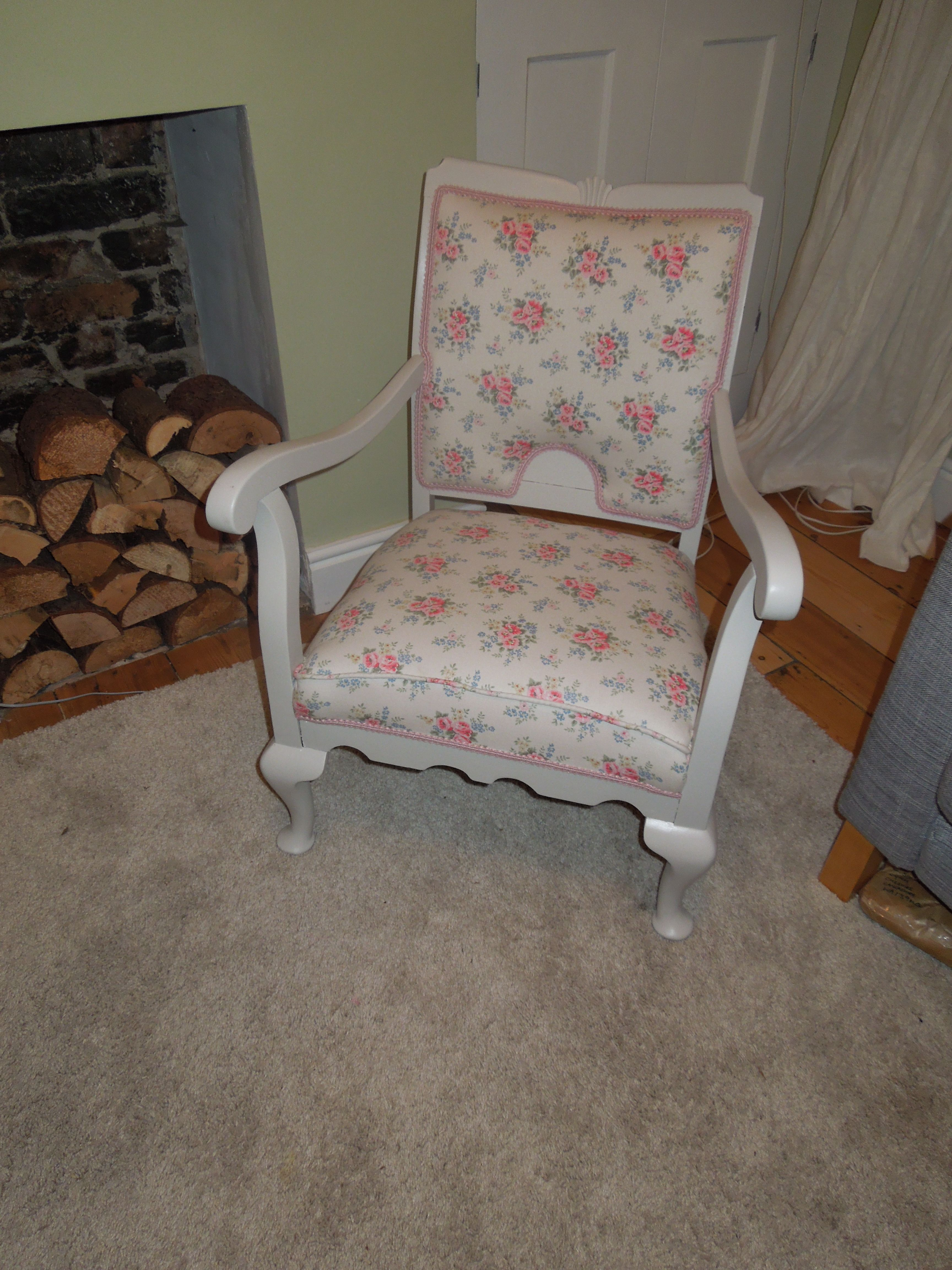 A former broken bergere chair brought back to life cath kidston a former broken bergere chair brought back to life cath kidston fabric and farrow and doublecrazyfo Images