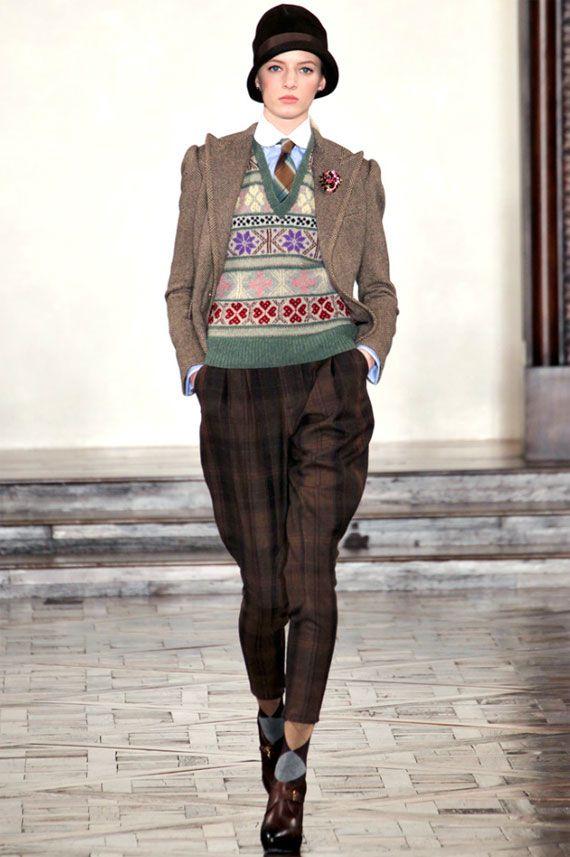1920s Fashion Channeled in Ralph Lauren Fall 2012 RTW Line Jumper style