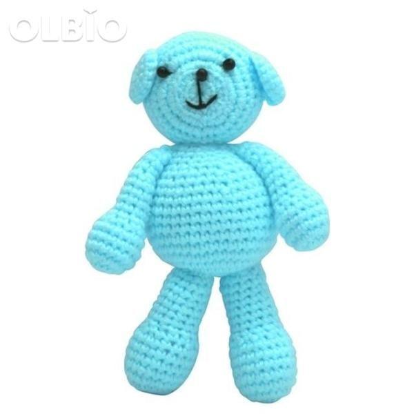 OLBIO Boys Bear Crochet Knit Toy Gifts #beartoy