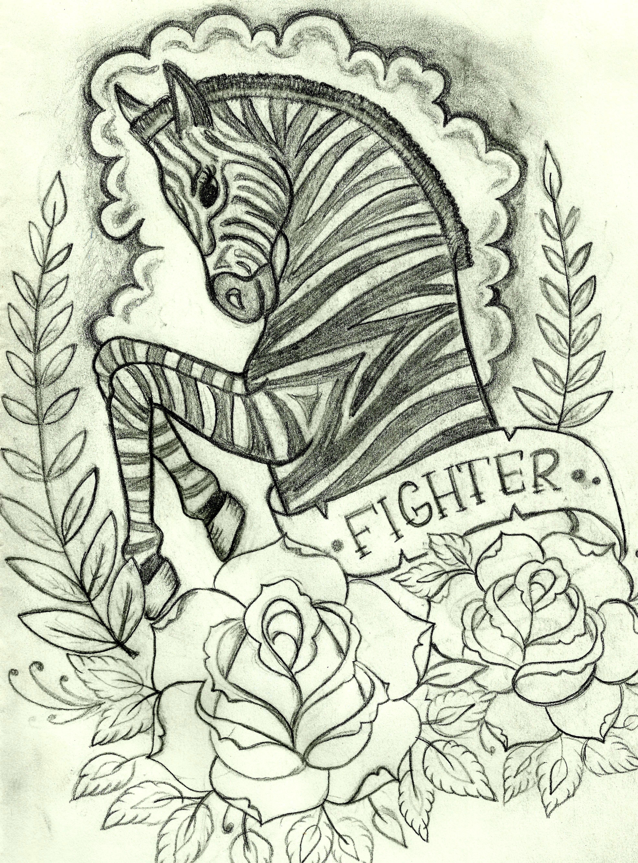 Zebra : : Drawn for my mom.... Future tattoo I think... | Mom. I ...