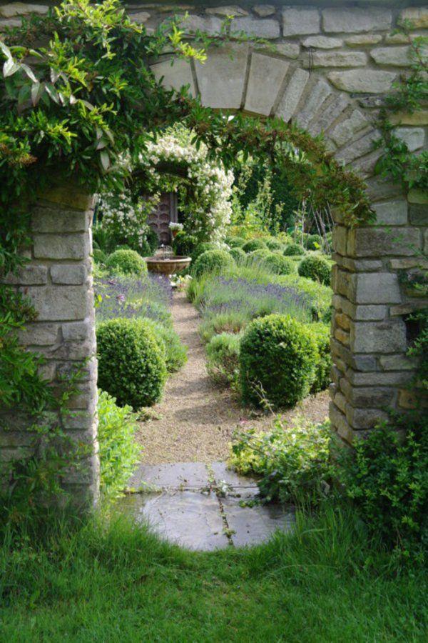 steinmauer gestalten wie torbogen gartenideen Garten Pinterest - garten gestalten mediterran
