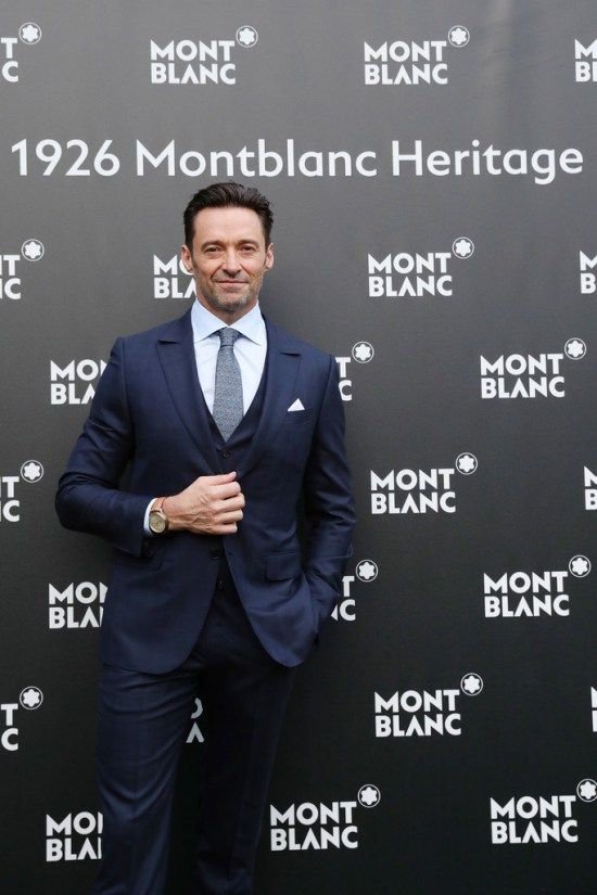 Hugh Jackman Models for Us at the 1926 Montblanc Heritage Launch Event