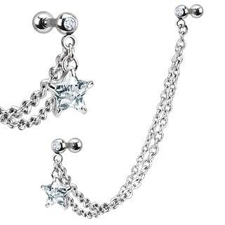 Sexy Boutique - Dangle CZ Star with Chain Linked Cartilage/Tragus Barbell, $8.10 (http://www.sexyboutiqueonline.com/dangle-cz-star-with-chain-linked-cartilage-tragus-barbell/)