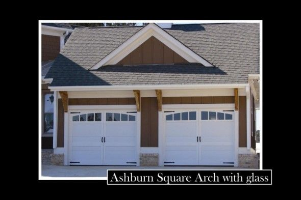 Ashburn Square Arch With Glass Garage Doors Our New Home