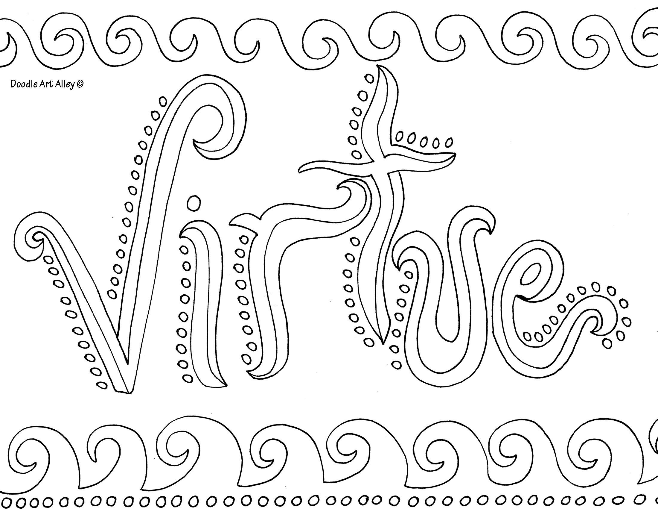 Free coloring pages growth mindset - Virtue Coloring Page