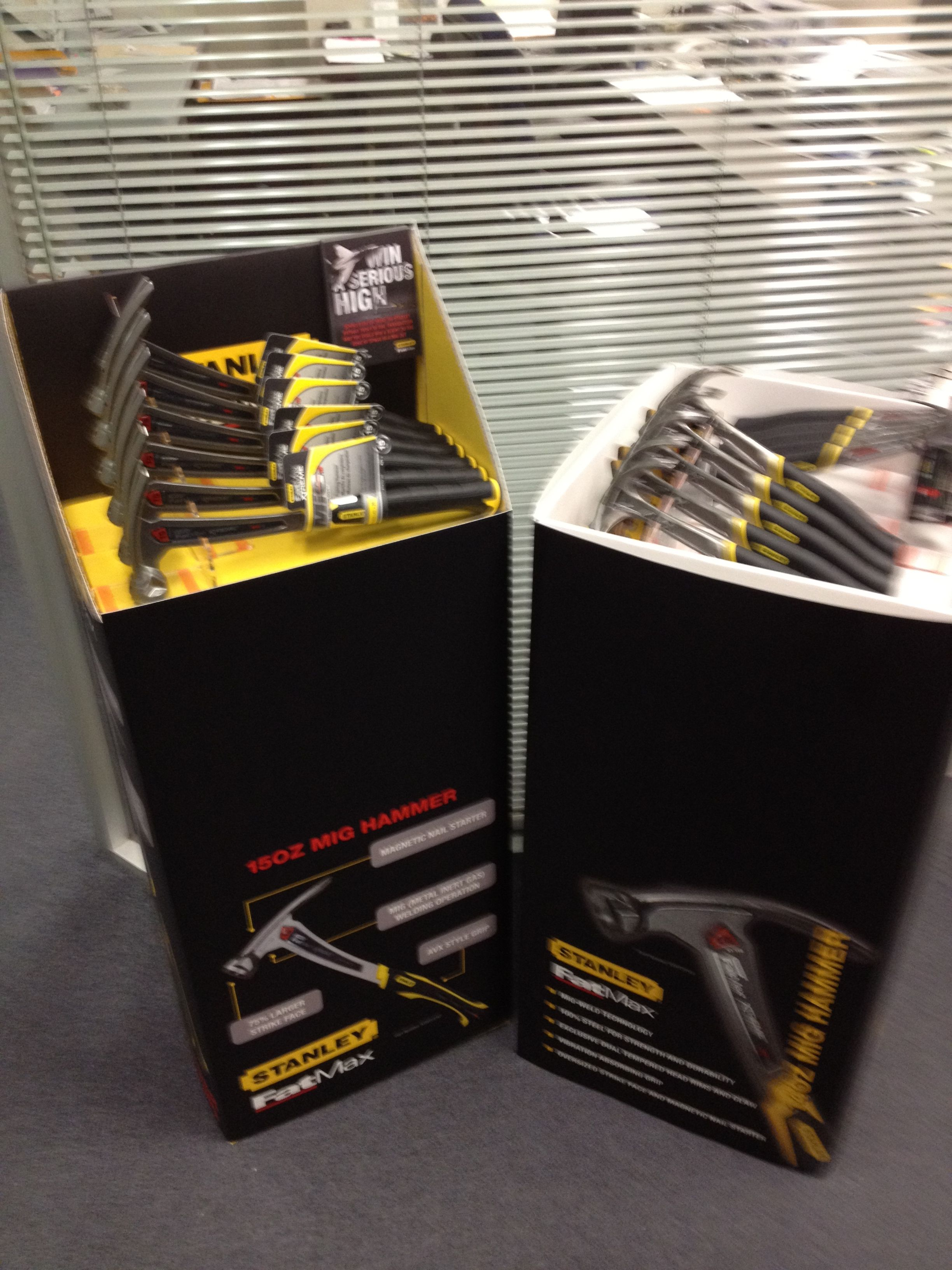 Just a some of the POS displays that we've designed for the guys at Stanley. These ended up in Bunnings.