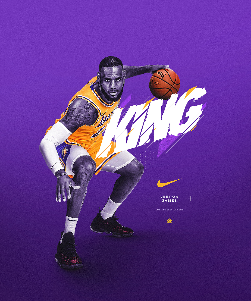 Sports Graphics On Behance Lebron James Poster King Lebron James Lebron James Wallpapers