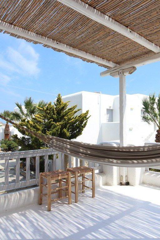 Hamac  fauteuil suspendu pour jardin et terrasse - terrasse sur pilotis metal