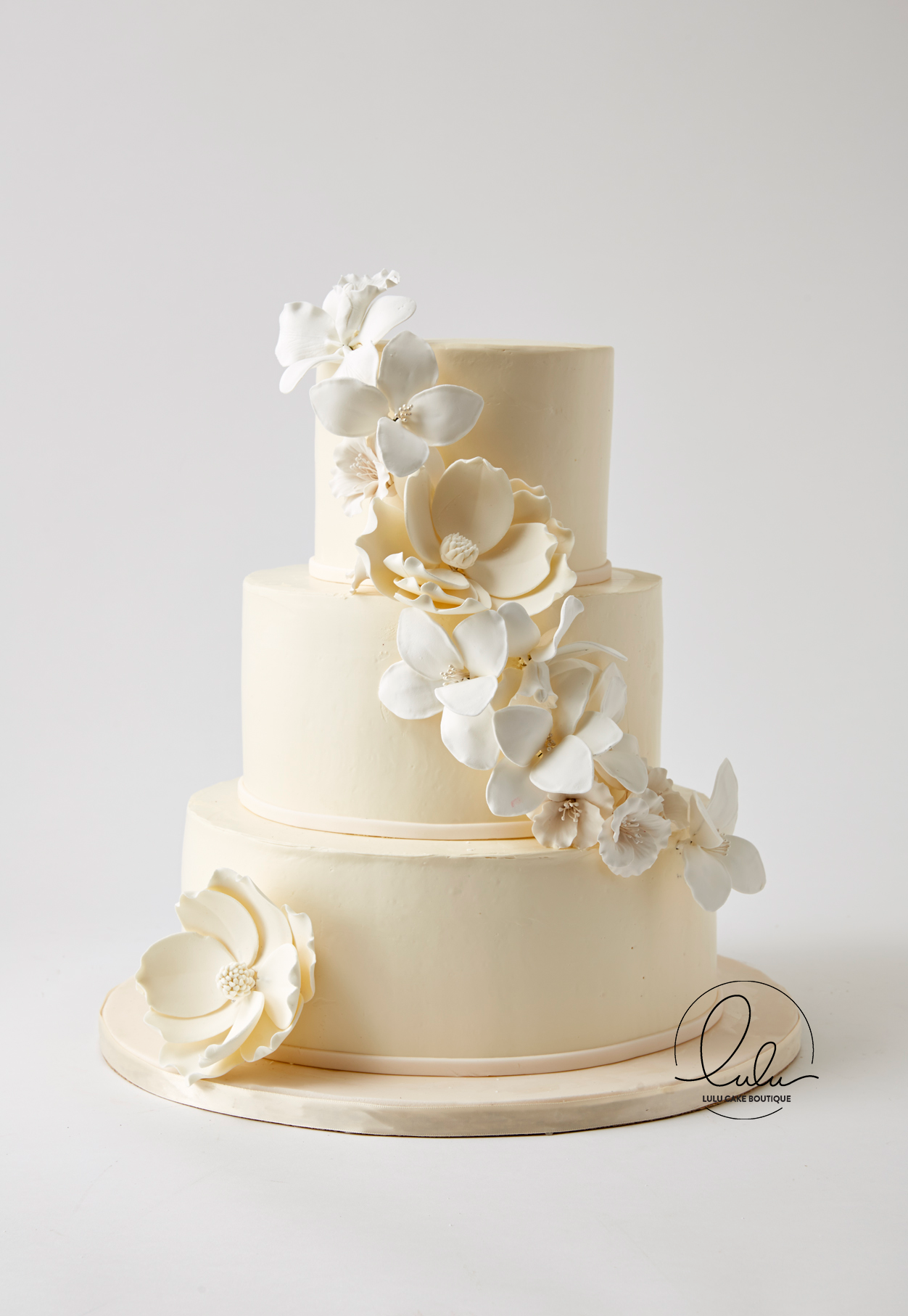 100% Pure buttercream with edible flowers by Lulu Cake Boutique in ...
