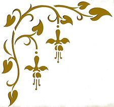 Wandschablonen schablone wandtattoo ornament ornamente pinte - Wandschablonen zum ausdrucken ...