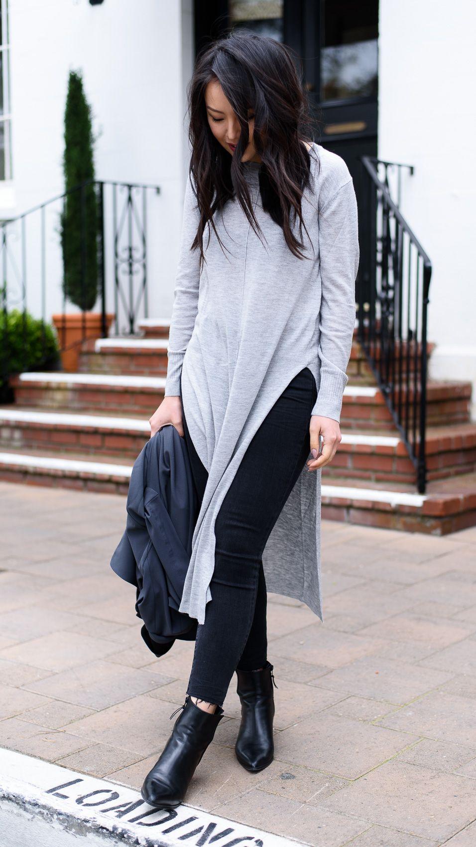 Spring Outfit 2016: Zara Maxi Sweater Tunic, Stuart Weitzman ...