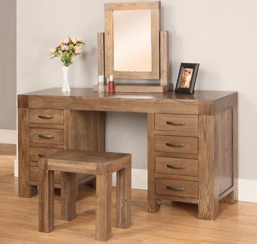 Details About Sandringham Solid Dark Oak Bedroom Furniture Dressing Table Mirror