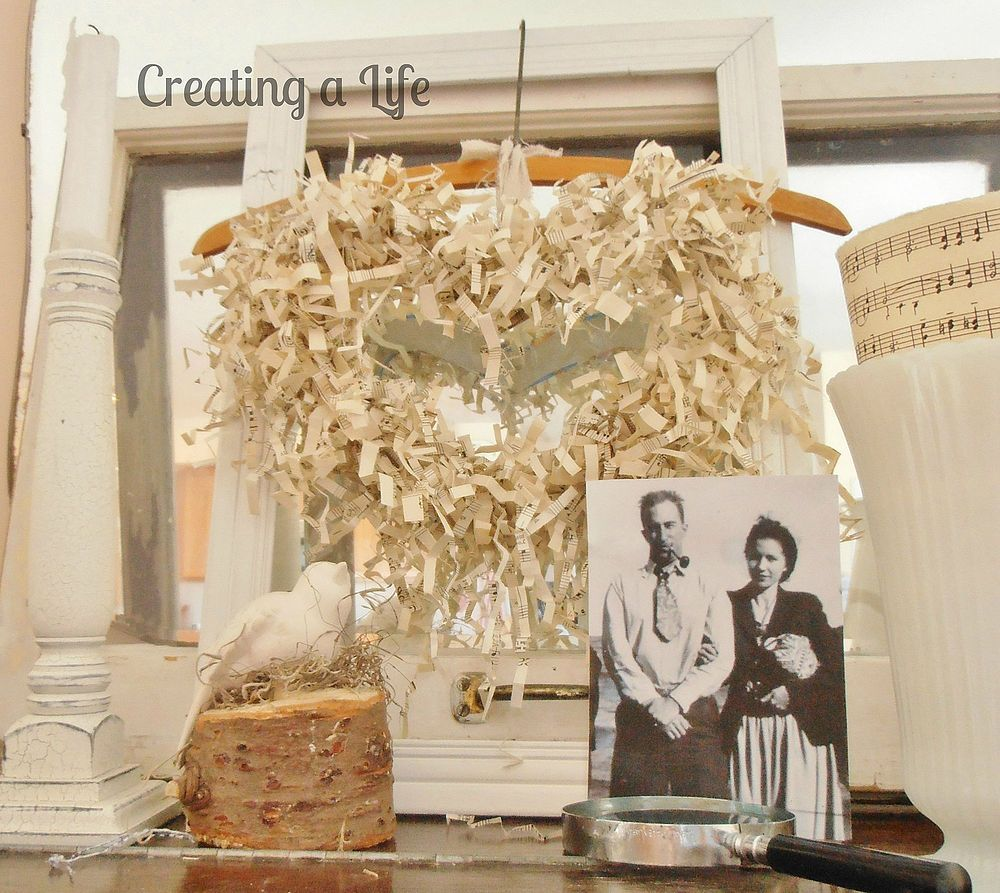 """Paper Heart Wreath-Easy Way to Make """"Crinkled"""" Paper :: Hometalk"""
