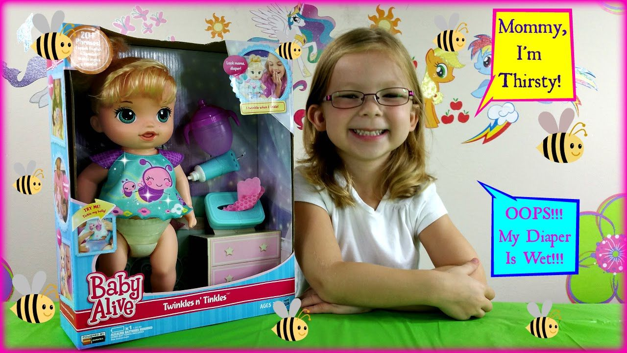 NEW BABY ALIVE Twinkles n' Tinkles Doll Unboxing Review /Baby Alive Doll...