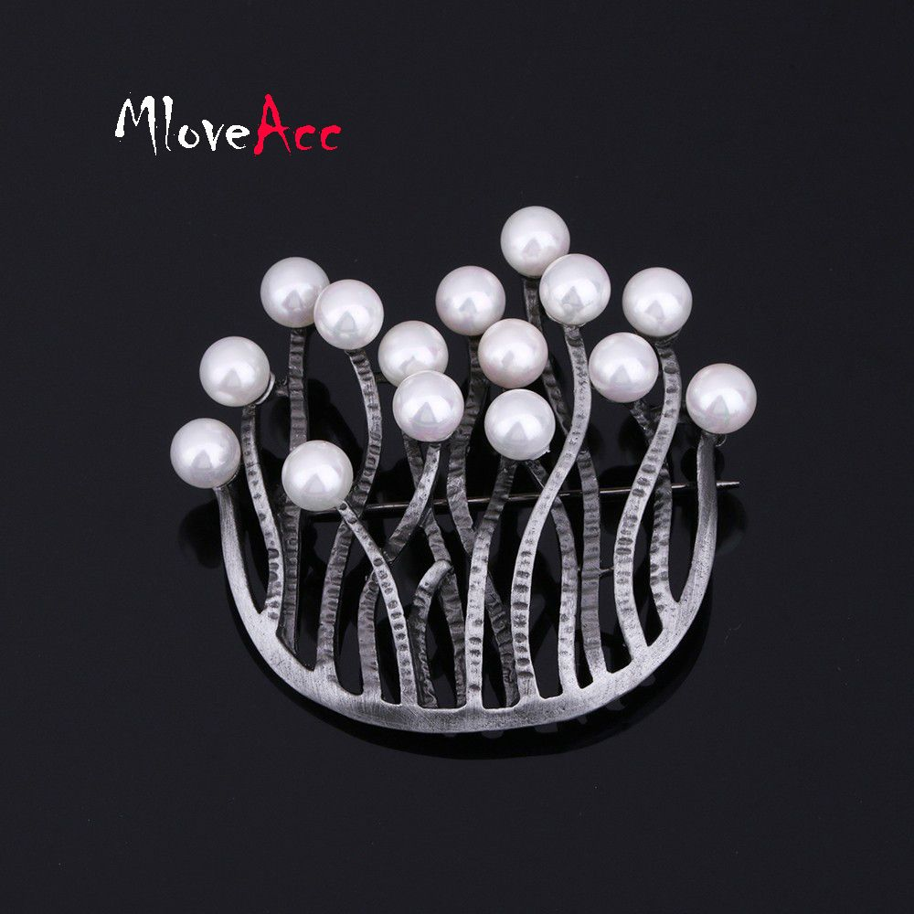 Photo of MloveAcc Antique Black U Shape Retro Brooches Jewelry Vintag …