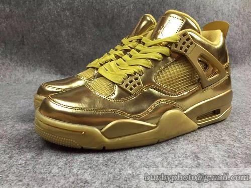 e67485c46f5 Men's Air Jordan 4 AJ4 Jordan4 Basketball Shoes Perfect Shoes Gold  40-46 only US$150.00 - follow me to pick up couopons.