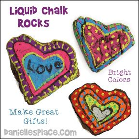 Rock Art - Chalk Rocks - Children will love decorating rocks to use as paper weights, gifts, and decorative items - Click on the image for directions - www.daniellesplace.com