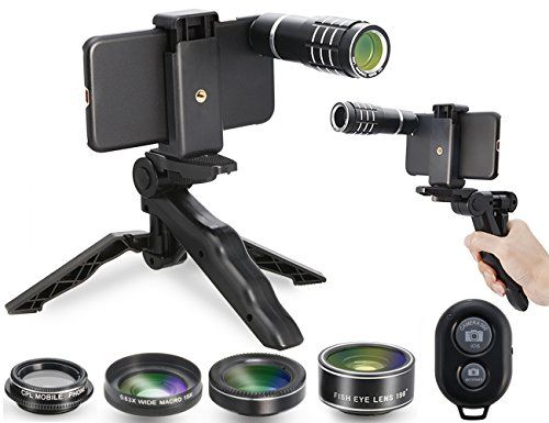 MY MIRACLE Camera Shutter Remote and Lens Kit for iPhone 6