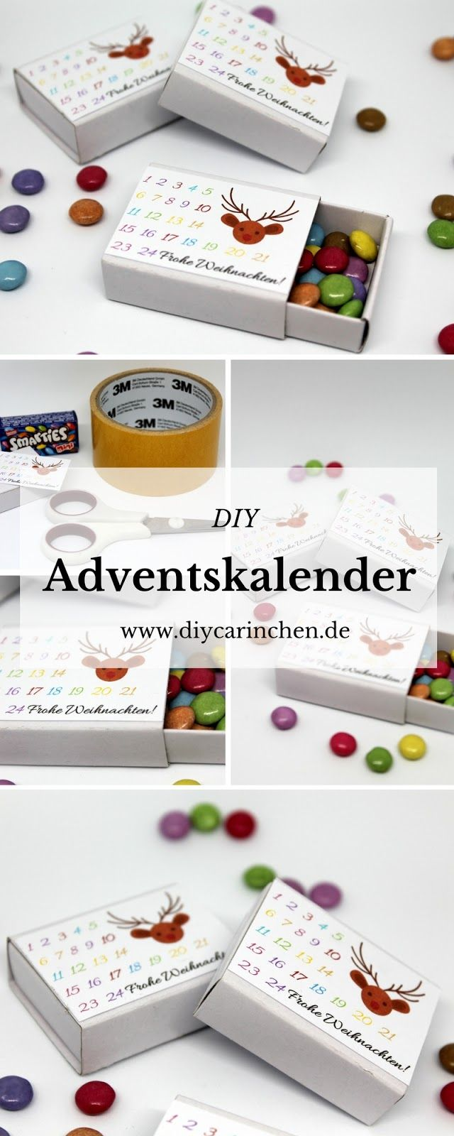 Tolles Geschenk: DIY Adventskalender in einer Streichholzschachtel ...