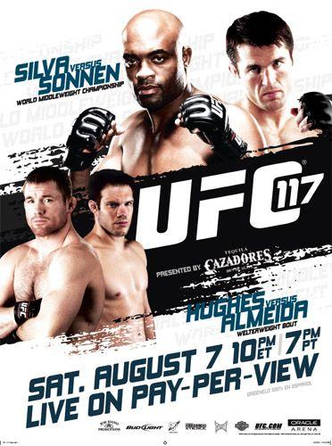 Ufc 117 Silva Vs Sonnen Ufc Poster Ufc Ufc Events