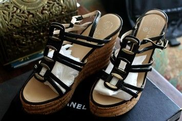 Chanel BLACK WITH SILVER ACCENTS Platforms