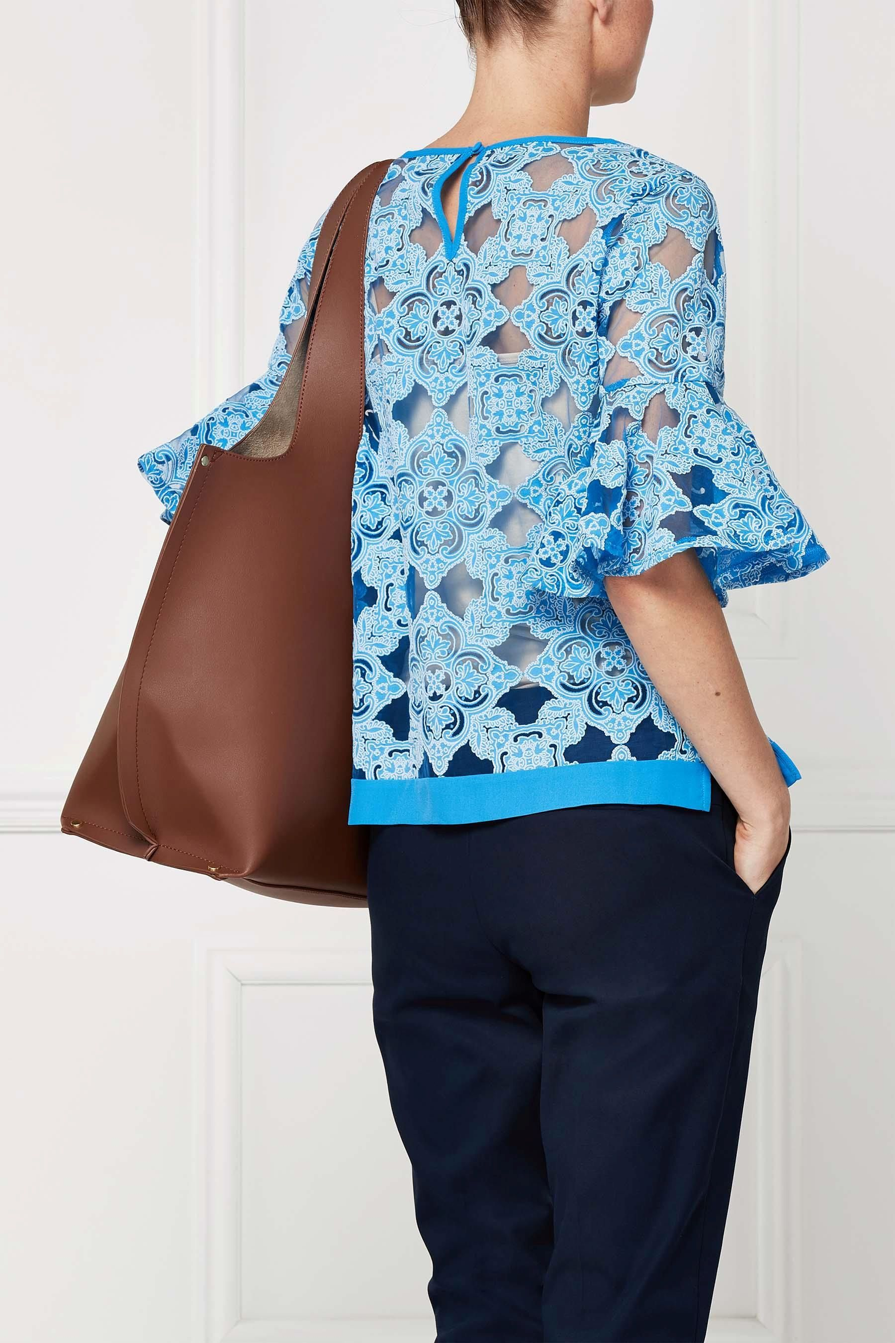 Buy Blue Fluted Sleeve Top from the Next UK online shop | nadia ...