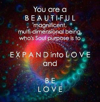 Purpose is to Expand Into Love Be Love