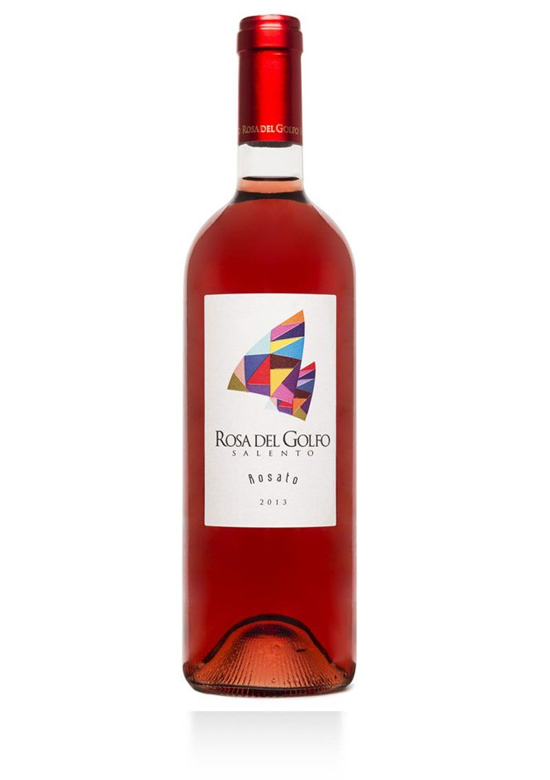 Rosa Del Golfo Rosato Rosa Del Golfo Vini Del Salento Vino Rosato Etichetta Vino Vino