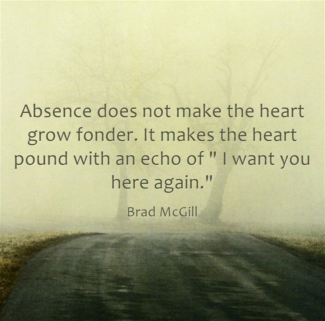 Absence makes the heart grow fonder meaning