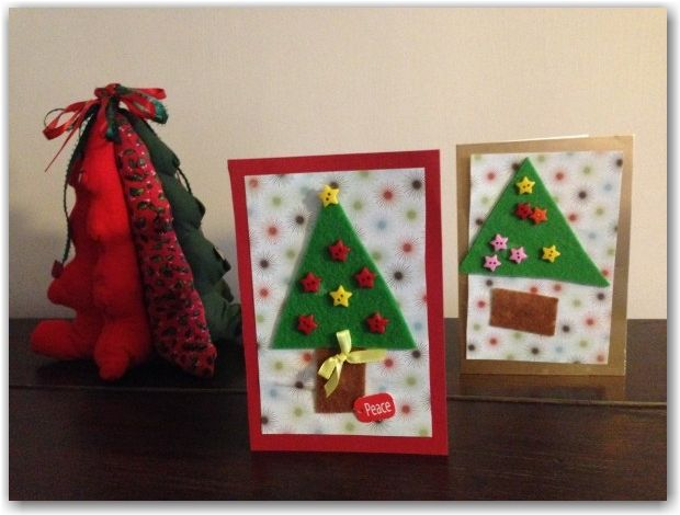 Easy Preschool Christmas Cards - Here Come the Girls