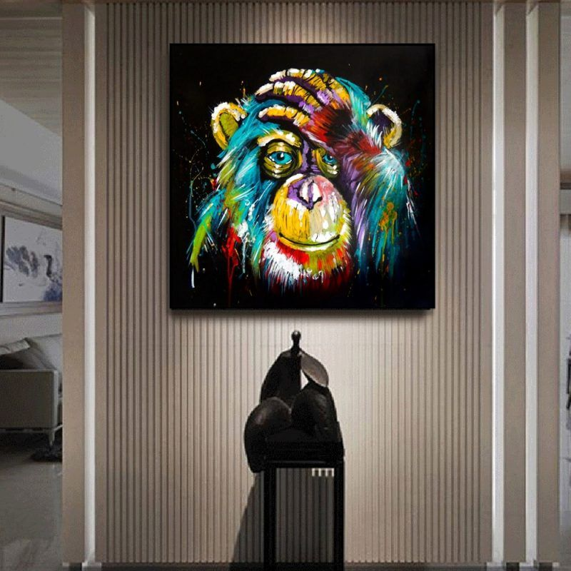 Tourist Frog Home Decor Painting Canvas Print Wall Art Picture Modern Bedroom