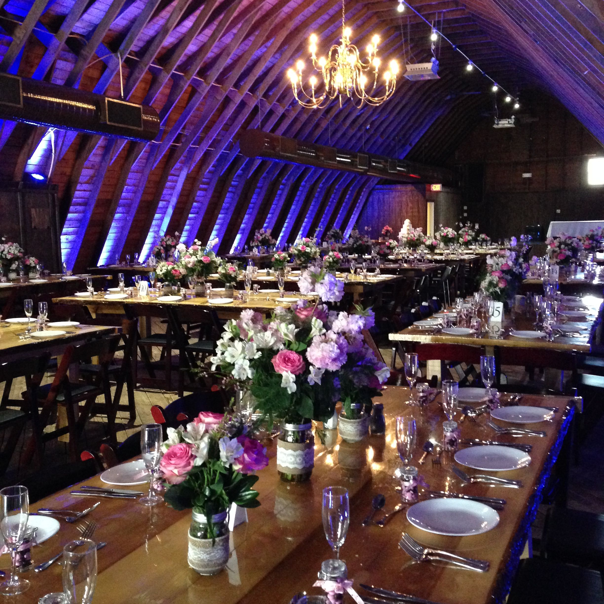 The Barn At Perona Farms With Blue Uplighting