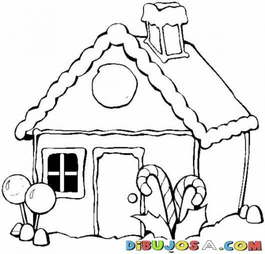 Casita De Dulces Y Chocolate Para Colorear En Navidad Colorear Dibujos De Paginas Para Colorear De Navidad Dibujos De Navidad Hojas De Navidad Para Colorear