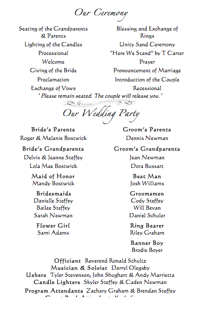 Wedding Programs Who To Include Party Weddingbee