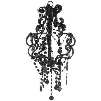 15 black beaded hanging chandelier victorian baroque era 15 black beaded hanging chandelier aloadofball Choice Image