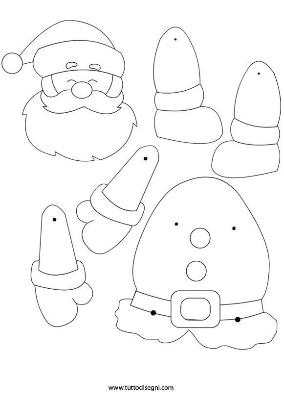 coloring page christmas movable santa 1216