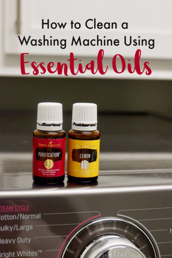 How to Clean a Washing Machine | Essential oils cleaning ...