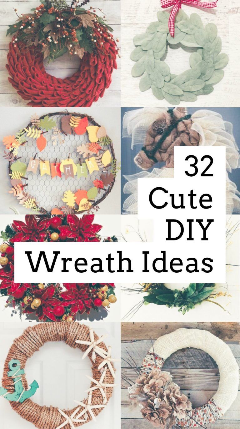 32 Diy Wreath Ideas For Your Home Crafty Curator Diy Wreath Wreaths Diy