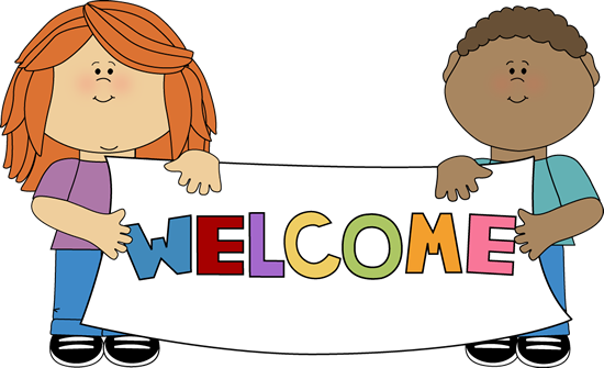 kids holding a welcome sign clip art for schedules pinterest rh pinterest com clip art welcome mat clip art welcome sign