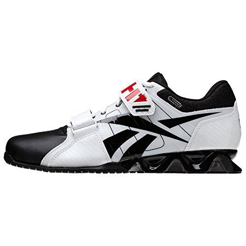 83450dc45690e9 Reebok CrossFit Lifter Plus V52260 White Black Red U-Form Lifting Men s  Shoes (Size 7) Reebok