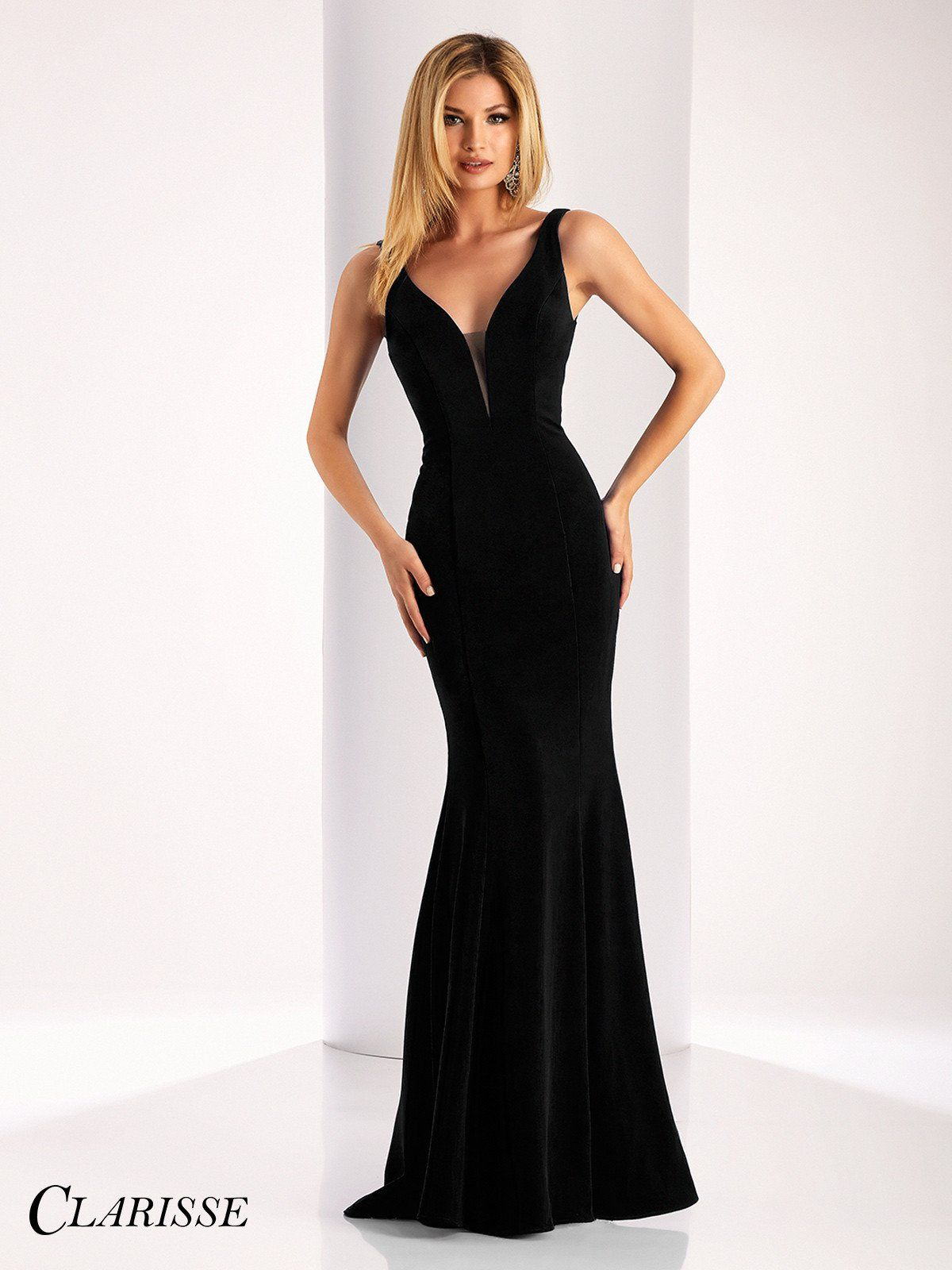Clarisse prom black vneck prom dress products