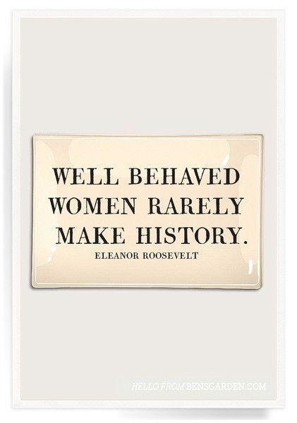 Well Behaved Women Decoupage Glass Tray
