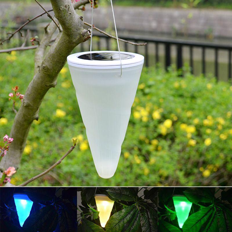 New Ip65 Waterproof Solar Power Garden Hanging Lamp Cylinder Lanterns Led Landscape Path Outdoor Patio H Solar Lights Solar Powered Lights Outdoor Solar Lights