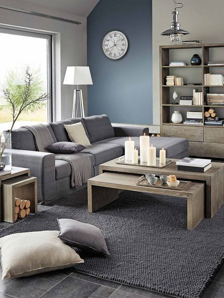 Resultado De Imagen De Salon Madera Y Gris Monochromatic Living Room Living Room Modern Gray Living Room Design