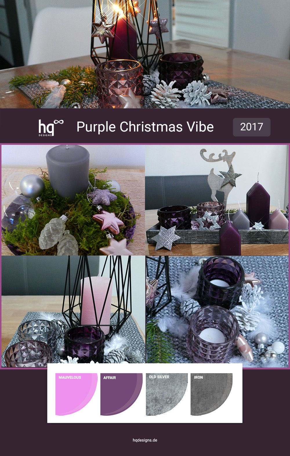 trendfarben f r weihnachten 2017 purple christmas vibe. Black Bedroom Furniture Sets. Home Design Ideas