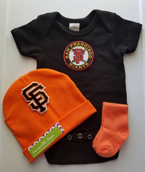 fd8e5b9e san francisco giants boy outfit with hat-sf giants romper/sf | baby ...
