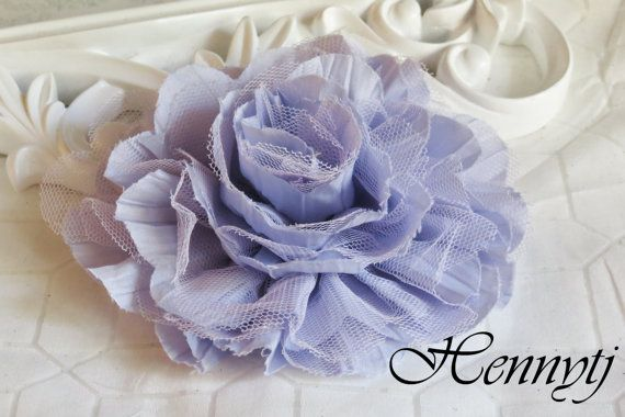 1 pc New Large Shabby Chic Frayed Wrinkled Cotton Voile by Hennytj, $2.75
