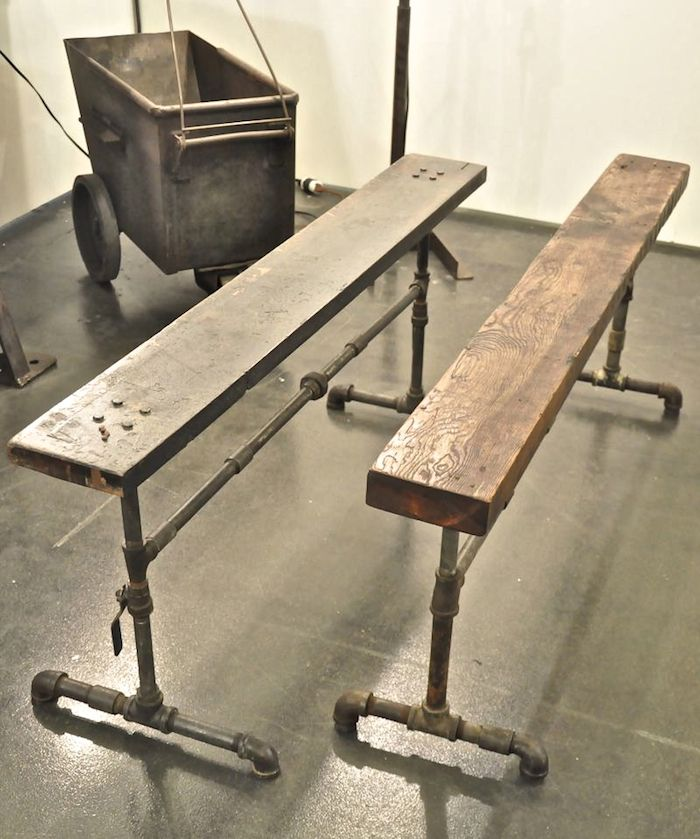 Furniture From Pipes. For The Movie Room.a Sofa Table That Could Double As  A Bar With Stools?