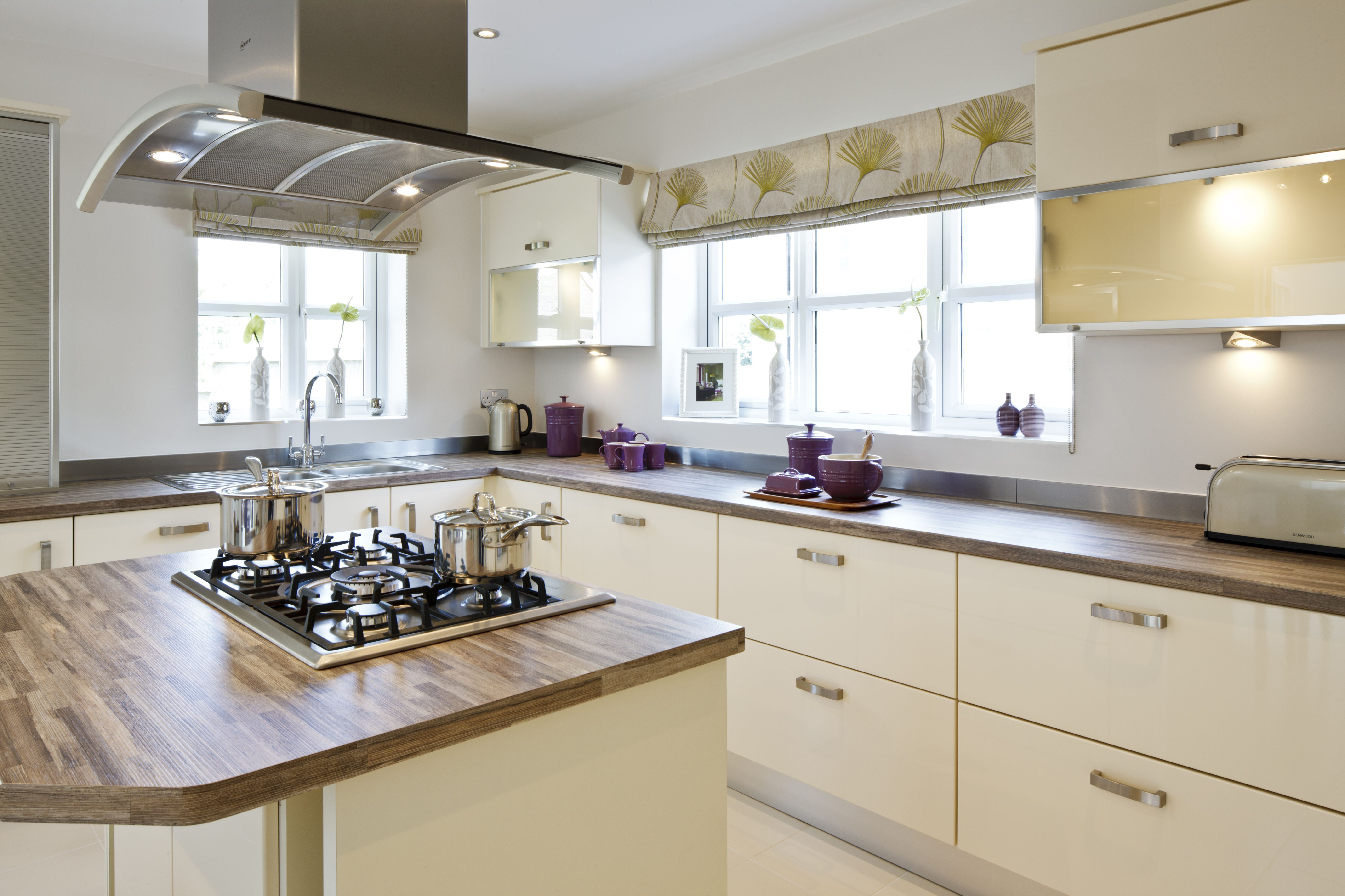 Symmetrical kitchen cupboards are a growing trend and this Winster ...