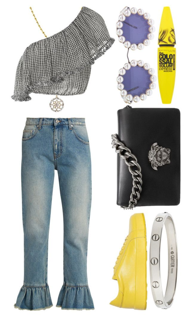 """""""yellowlert"""" by michelledhrm ❤ liked on Polyvore featuring MSGM, Jil Sander, Cartier, Versace, Maybelline, Chanel and Zimmermann"""